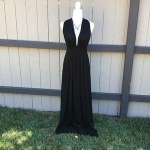 Tart Long Black Infinity Wrap Dress 👗